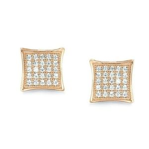 Rose Gold Plated Simulated diamond earrings